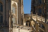Details Of Principal Facade Of Burgos Cathedral. Spain
