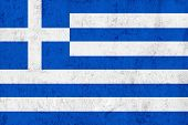 Grunge Dirty And Weathered Greek Flag