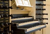 image of organist  - church organ of a dutch church