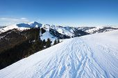 Schmitten Winter Ski Slopes Of Zell Am See Resort