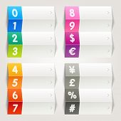 Rainbow - Numbers & Currency icons / Navigation template