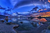 image of square mile  - Clouds over Mono Lake - JPG