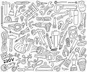 work tools - doodles