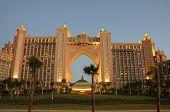 Постер, плакат: Отель Atlantis на острове Пальма Джумейра в Дубае