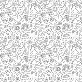Yoga -seamless pattern