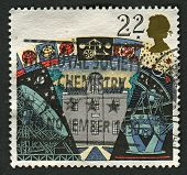 UK - CIRCA 1990: A stamp printed in UK shows image of the Armagh Observatory, Jodrell Bank Radio Tel
