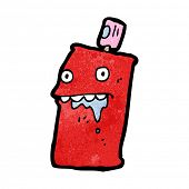 drooling spray can cartoon
