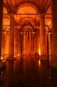 pic of cistern  - Basilica Cistern in Sultanahmet District, Istanbul, Turkey ** Note: Slight graininess, best at smaller sizes - JPG