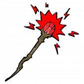 pic of clip-art staff  - cartoon magic staff - JPG