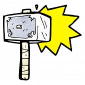 cartoon hammer of thor
