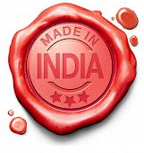made in India original product buy local buy authentic Indian quality label red wax stamp seal