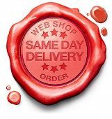 same day delivery webshop order shipping online shopping product from internet web shop package ship