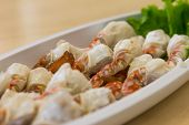 pic of cooked crab  - Steamed Crab Legs Of Thai Food day light