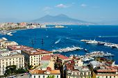 Wonderful Naples Panoramic View With Vesuvius
