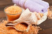 Body Care Accessories: Towels, Sea Salt, Soap And Shell