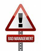 Bad Management Warning Road Sign Illustration