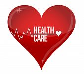 Health Care Heart Concept Illustration Design