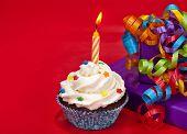 Cupcake de aniversário
