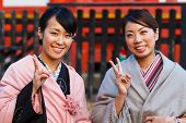 Japanese Ladies with Kimono