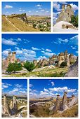 picture of goreme  - a collage of cappadocia  - JPG