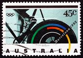 Postage Stamp Australia 1992 Bicycling