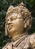 Head Of Sri Basavanna On Bengaluru Statue.