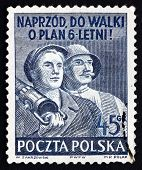 Postage Stamp Poland 1951 Polish Workers