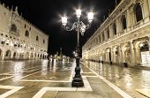 San Marco square at night Venice Italy.