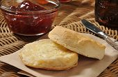 Biscuit With Cranberry Sauce