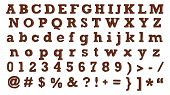 Brown leather alphabets