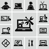 foto of virus  - Computer repairs icons - JPG
