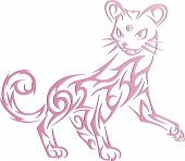 a silhouette of a cat decorative
