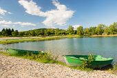 Lake in France at French Rhone-Alpes