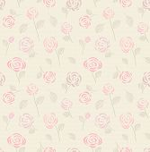 Vintage Seamless Pattern With Pink Roses