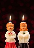 Choir Boy And Girl Candles.