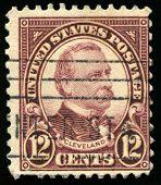 Vintage Us Postage Stamp Of President Cleveland (1922)