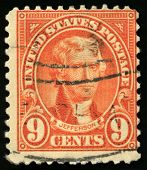 Vintage Us Postage Stamp Of President Jefferson (1922)