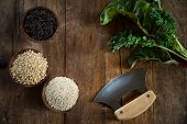 Brown Rice, Quinoa And Wild Rice
