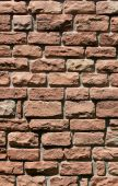 pic of fieldstone-wall  - Stone wall of cut rock similiar to brick - JPG
