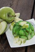 Apple Jello On A Plate