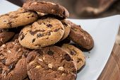 pic of dessert plate  - Mixed Cookies on a white plate  - JPG