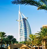 DUBAI, UNITED ARAB EMIRATES -DECEMBER 13 2013 : Burj Al Arab, One of the most famous landmark of Uni