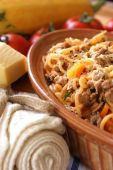 Spaghetti With Mince Meat And Tomato Sauce poster