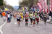 Large Group Of Competitors Competing In Comrades  Marathon