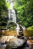 pic of asheville  - Upper Catabwa Falls is a 50 - JPG