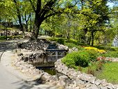 Riga. Landscaping On A Bastionny Hill.