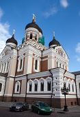 Alexander Nevsky Cathedral. Old city Tallinn Estonia