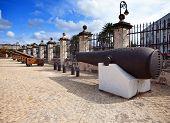 Cuba. Old Havana. Cannon in Castillo de la Real Fuerza