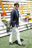 JERSEY CITY, NJ-MAY 31: Model Johannes Huebl attends the 7th Annual Veuve Cliquot Polo Classic at Liberty State Park on May 31, 2014 in Jersey City, NJ.