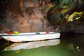 the boat in a cave
